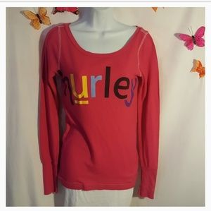 Hurley Womens Thermal Tee Shirt